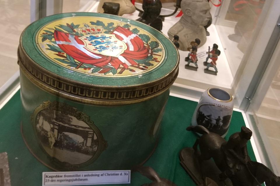 Металлическая коробка для печенья с королем Кристиан Х,
