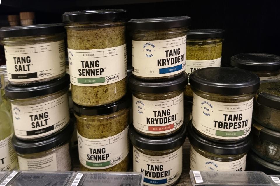 Специи, соль и соусы с водорослями, Дания