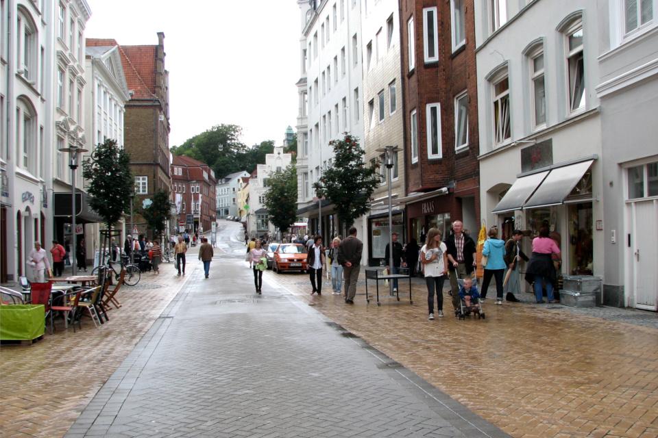 В старой части города Фленсбург / Flensburg, Германия. Фото 4 авг. 2008