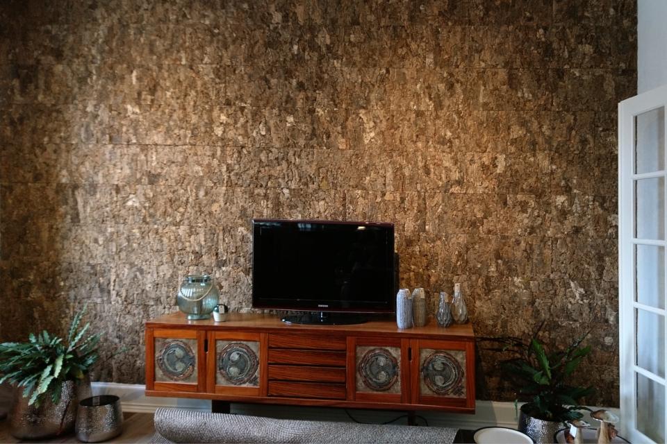 изделия из пробкового дуба, стена