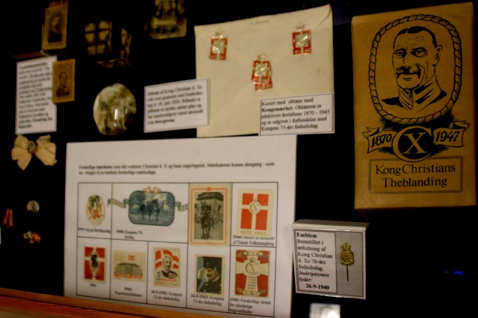 Значки с монограммой короля и чайная смесь короля Кристиан Х