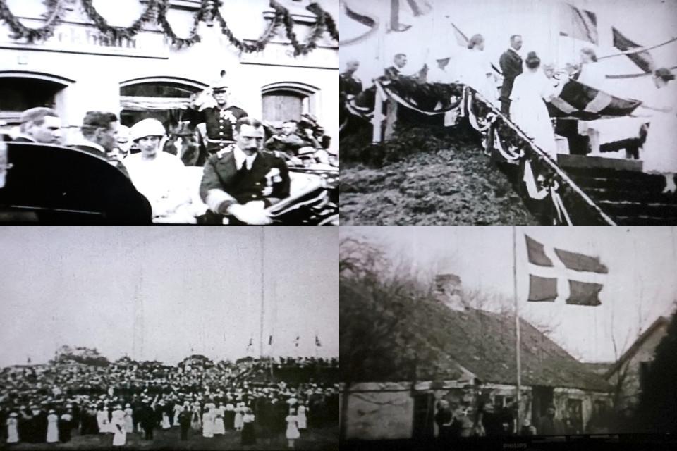 на праздновании воссоединения Дании с Северным Шлезвигом 1920 г.