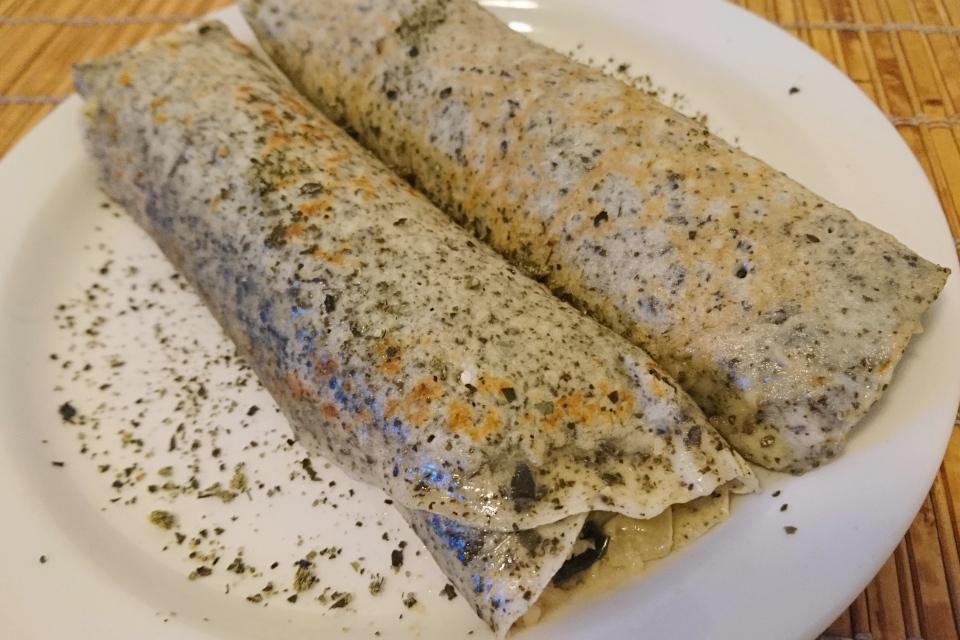 Роллы с водорослями и морепродуктами, Дания