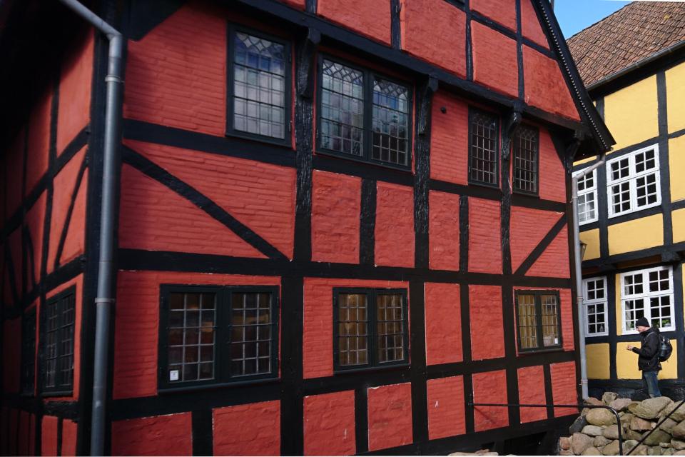 Фахверковый дом, построенный в 1589 (дат. Det Gamle Borgerhus), Колдинг, Дания