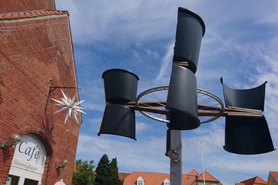 Декоративная ветряная мельница. г. Кристиансфельд / Christiansfeld, Дания