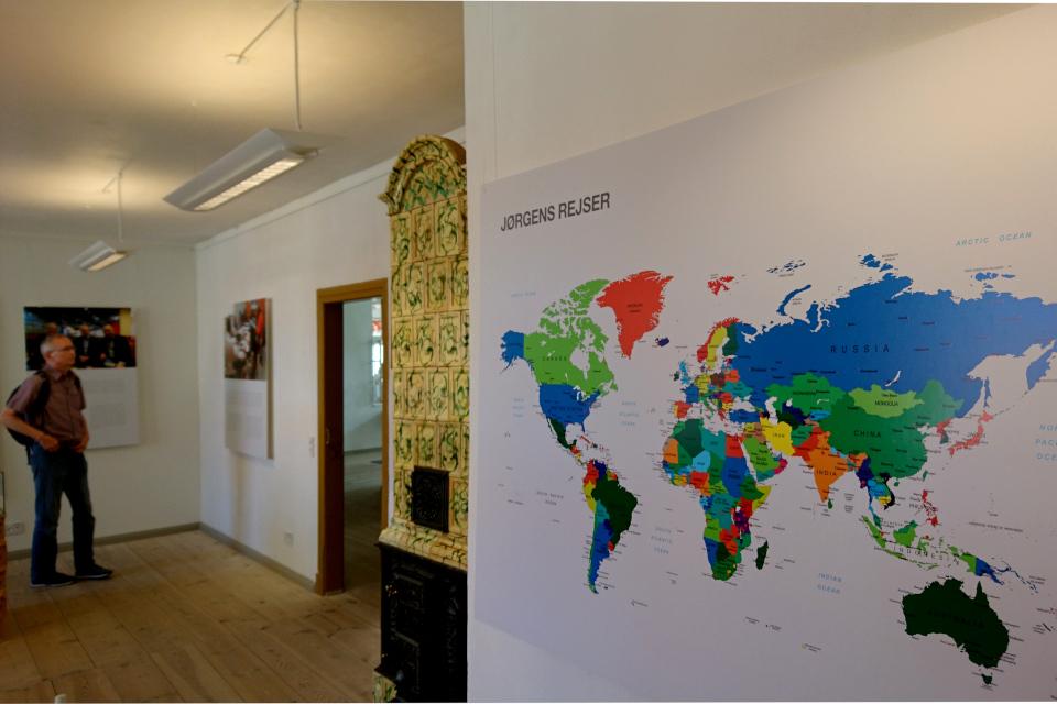 Карта с местами путешествий датского миссионера Йоргена, музей Кристиансфельд