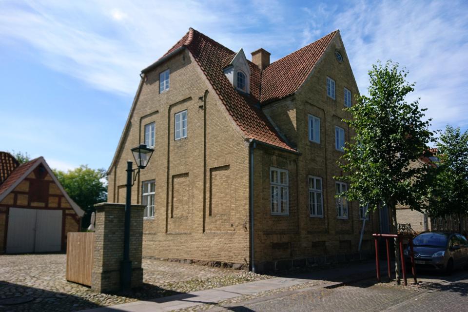 Фахверковые постройки во внутренних двориках, Кристиансфельд, Дания
