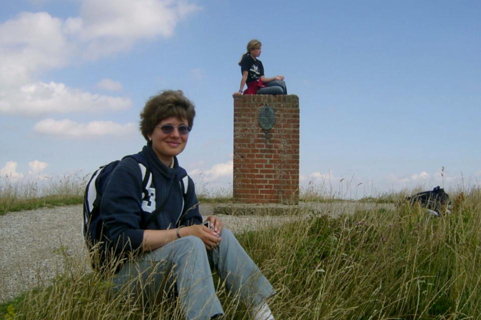 Геодезический монумент на вершине холма Агри Бавнехой, Дания