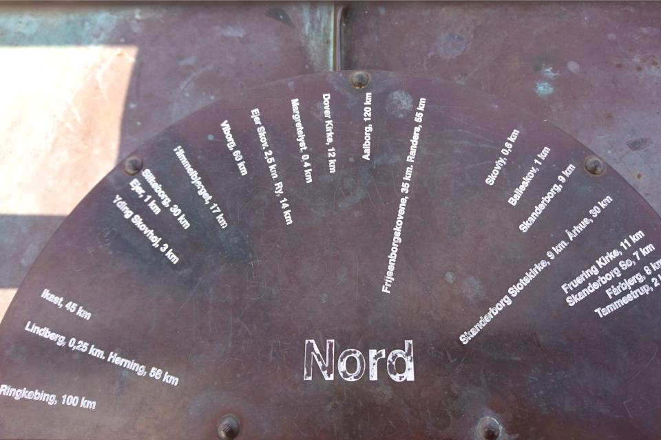Северное направление башни Айер-Бавнехой / Ejer Bavnehøj, Дания