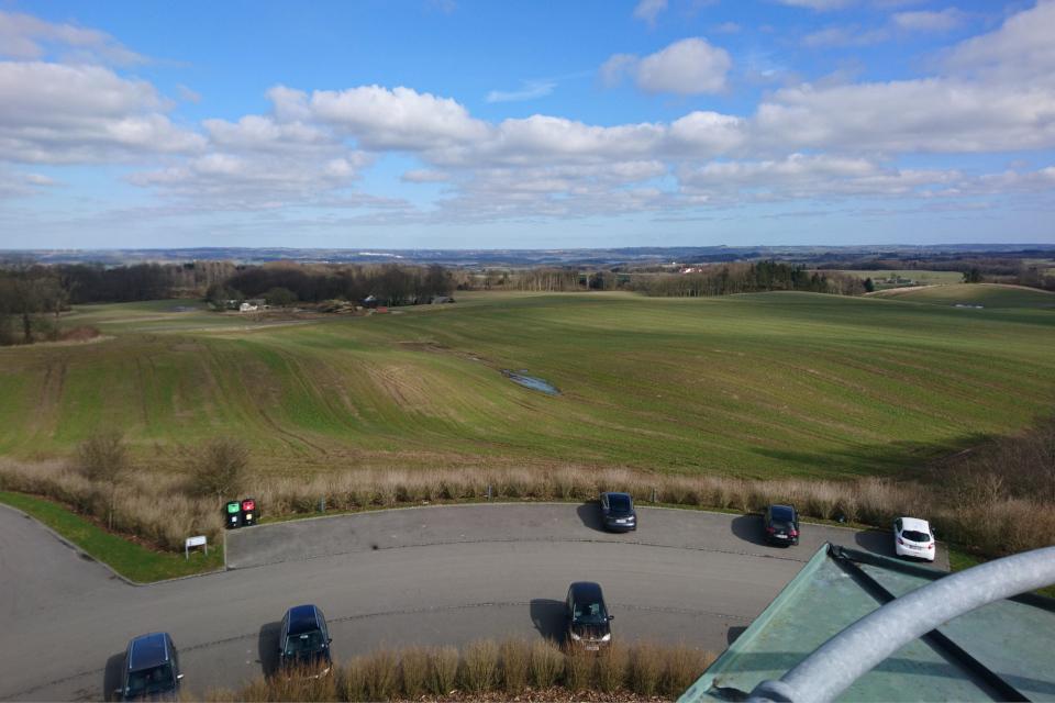 Вид с башни. Фото 14 мар. 2020, Айер-Бавнехой / Ejer Bavnehøj, Дания