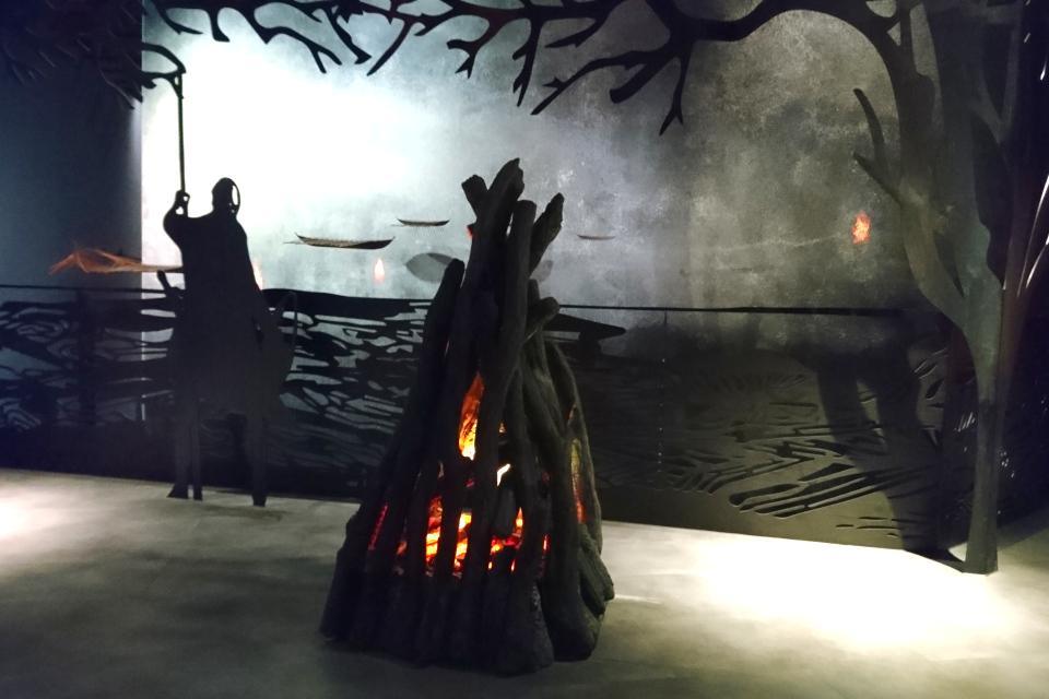 Экспозиция про сигнальные огни в музее Мосгорд (MOMU). Дания.