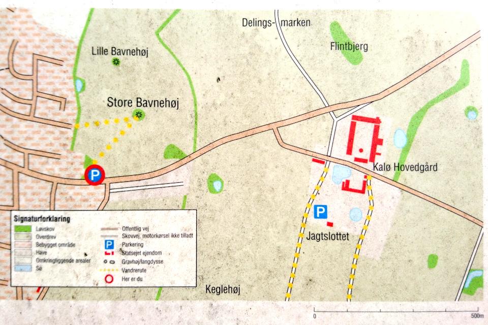 Карта с информационного щита с месторасположением курган Большой Бавнехой