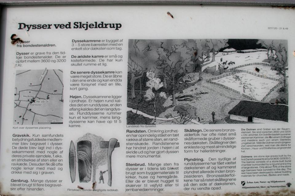 Иллюстрации на информационном щите. Фото 21 мая 2008, г. Nødager, Дания