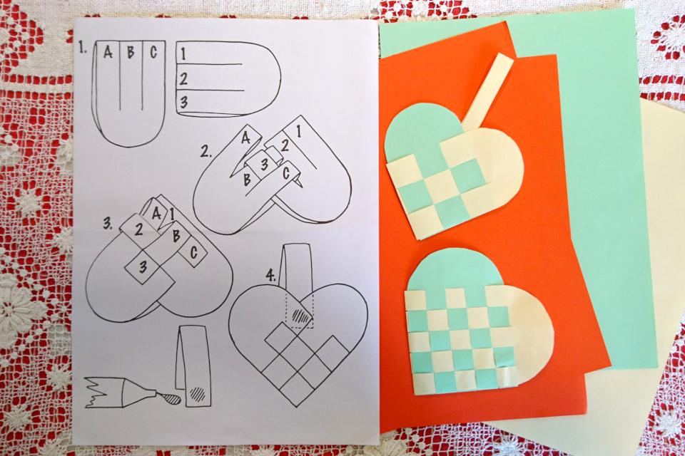 Схема плетения рождественских сердечек