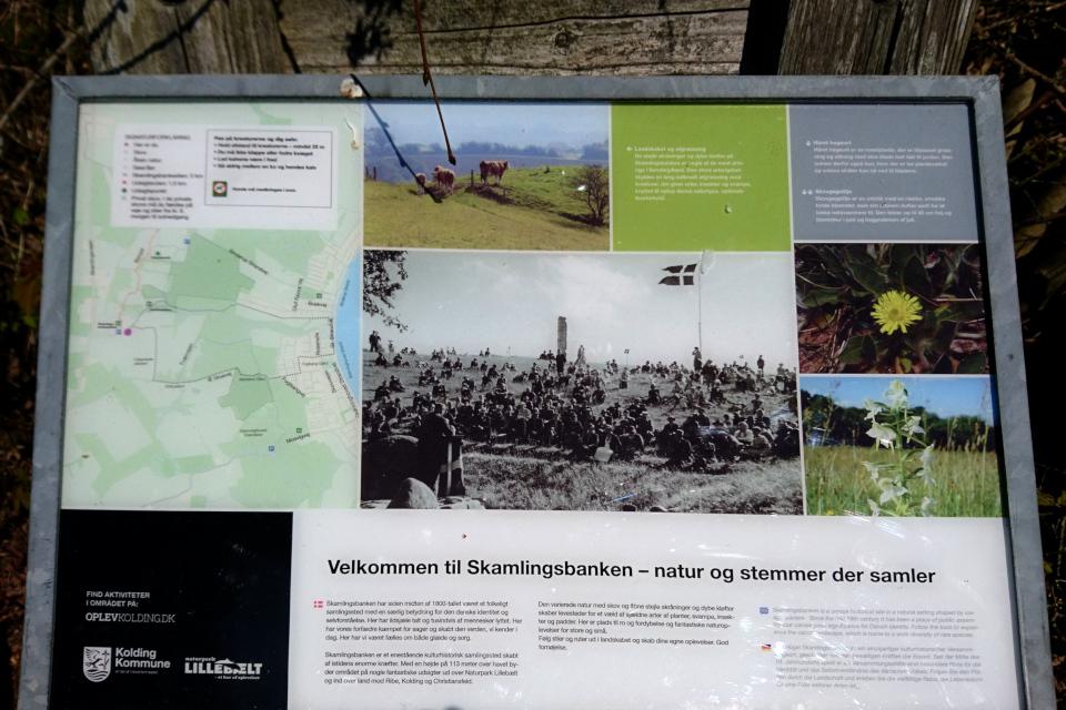 Информационный щит. Скамлингсбанкен (Skamlingsbanken), Sjølund, Дания