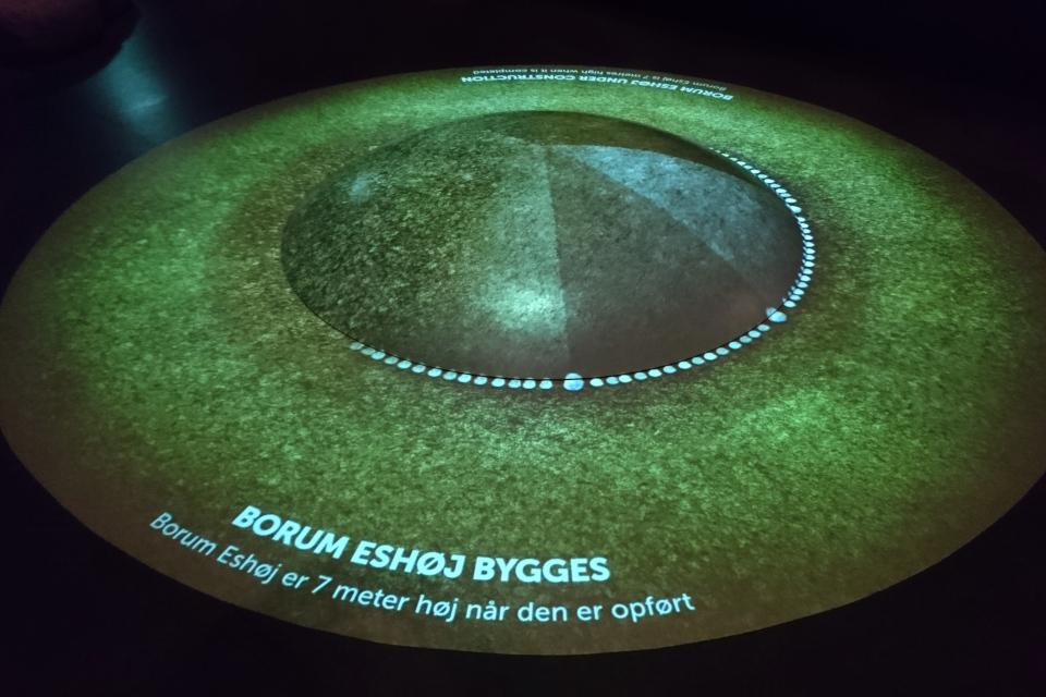 Окончательный этап создания кургана Borum Eshøj