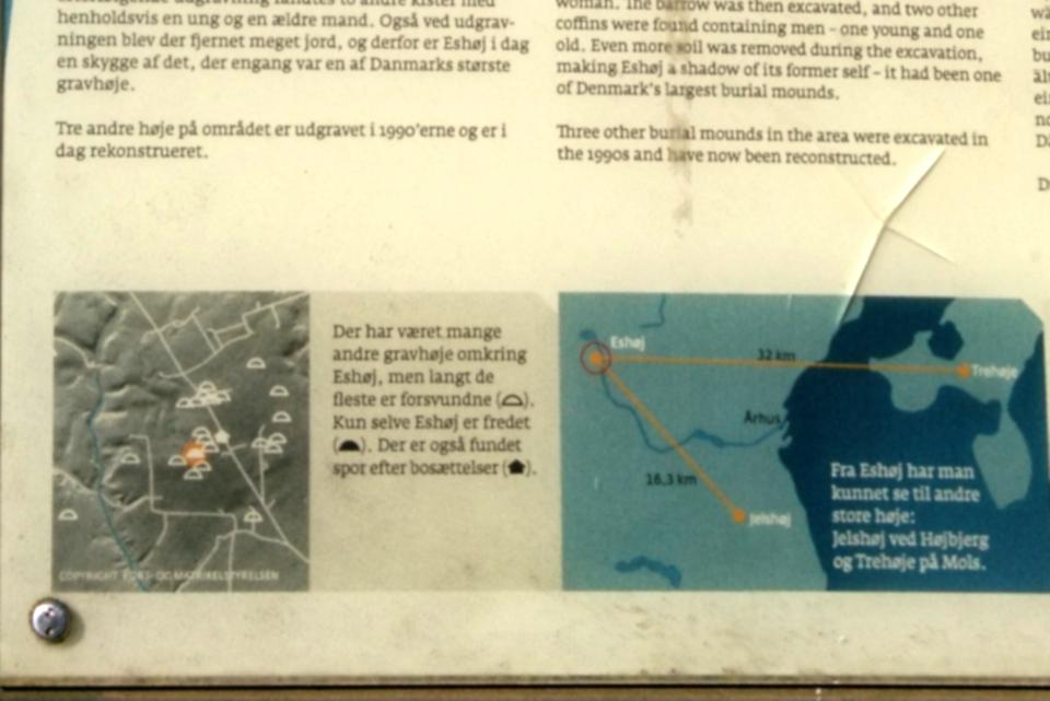 Карта с месторасположением курганов