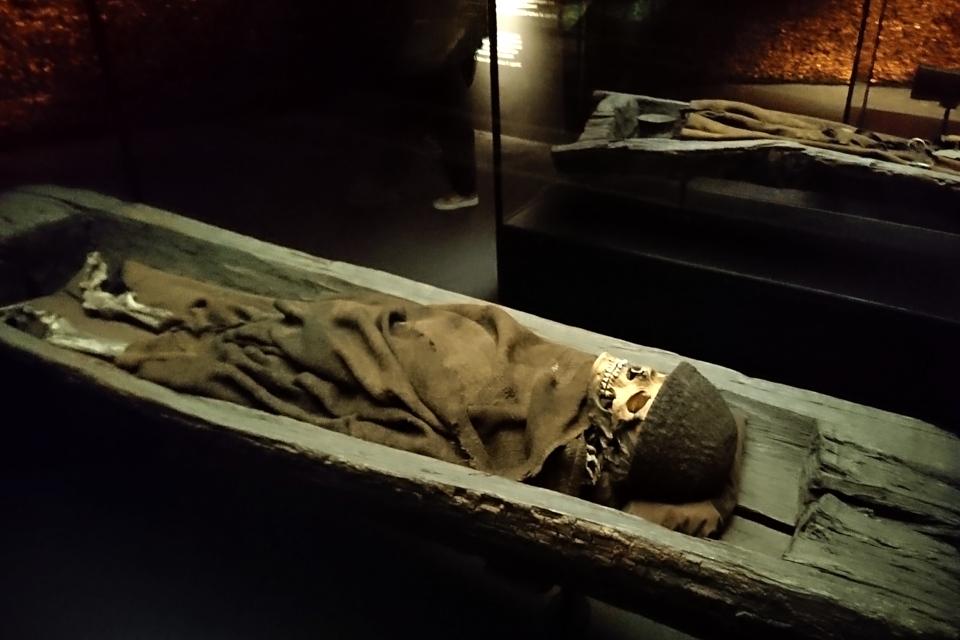 Тело взрослого мужчины из центральной части кургана Борум Эсхой