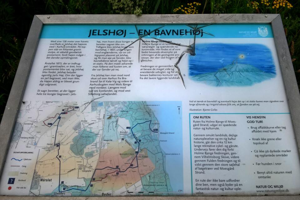 Информационный указатель про сигнальный пост (Jelshøj - en bavnehøj)