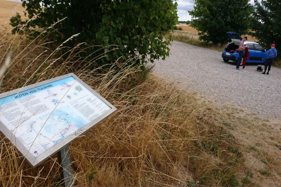 На ближайшей парковке возле дороги, ведущей к кургану Тульсхой (Tulshøj)