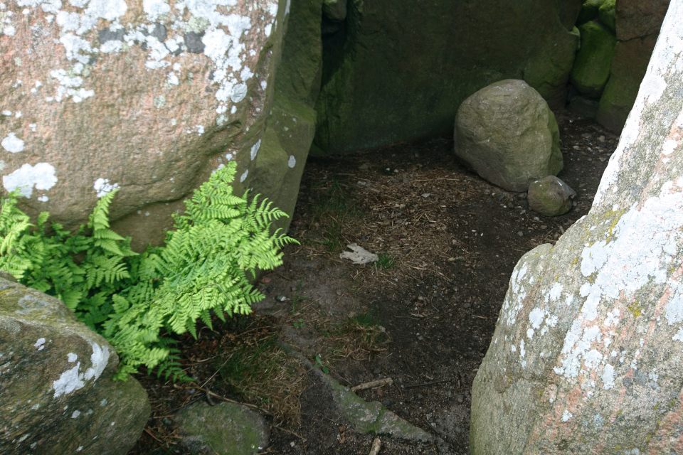 Каменный порог у входа в камеру дольмена-50 кр, Дания