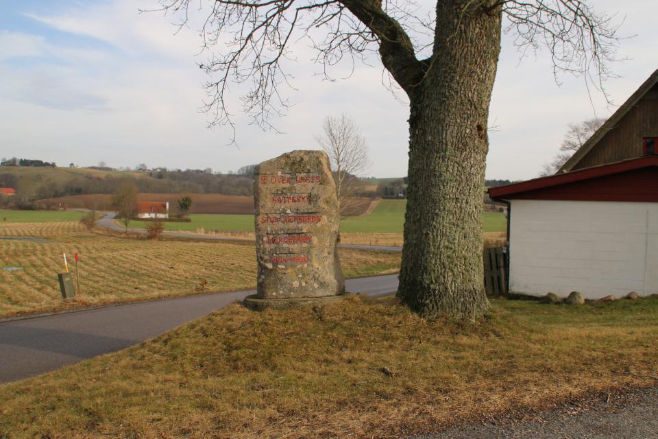 Камень воссоединения Рингклостер. Фото 21 фев. 2021, г. Скандерборг, Дания