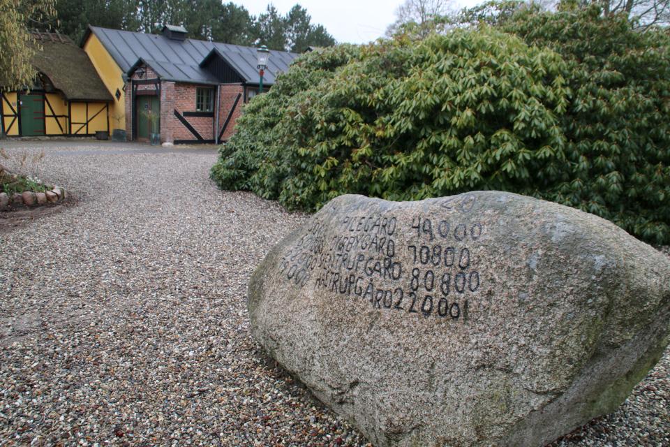Список цен на фермы на камне во дворе старой гостиницы Видстен (Hidsten kro)