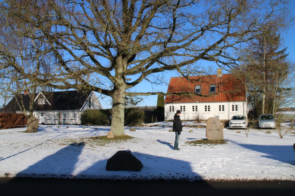 Памятные камни в Тодбьерг (Todbjerg), Дания. Фото 14 фев. 2021