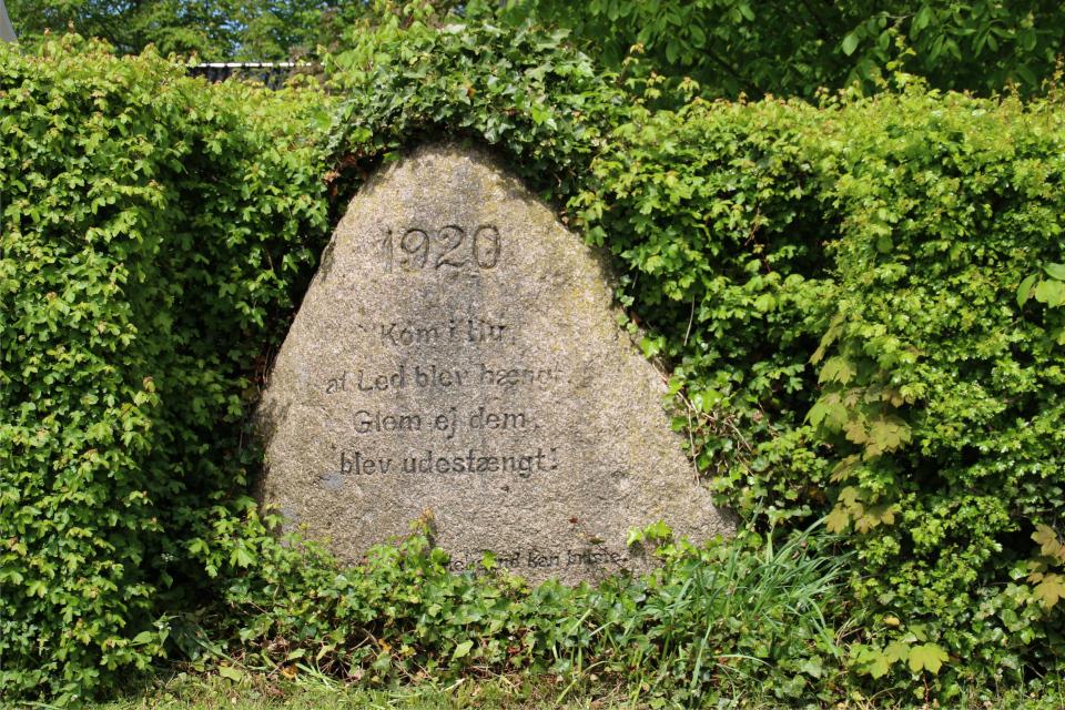 Камень воссоединения в Каттруп, Дания. Фото 28 мая 2021