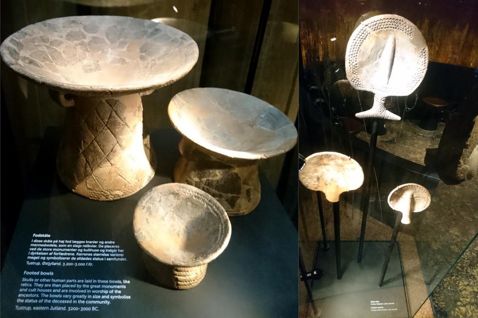 Глиняные урны и ложки - находки культуры воронковидных кубков