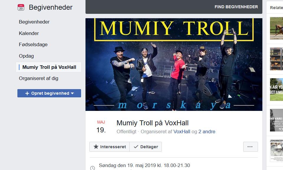 Концерт Мумий Тролль в Орхусе Дания 19 мая 2019