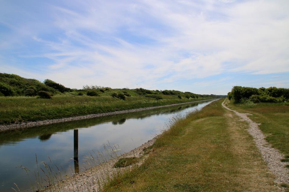 Канал Фредерика 7 от разводного моста, Дания
