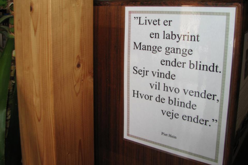 Строки из стихов датского поэта и математика Пит Хейн (Piet Hein)