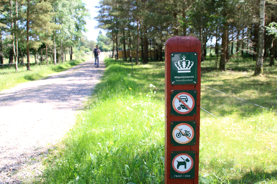Красный столбик Министерства окружающей среды Дании