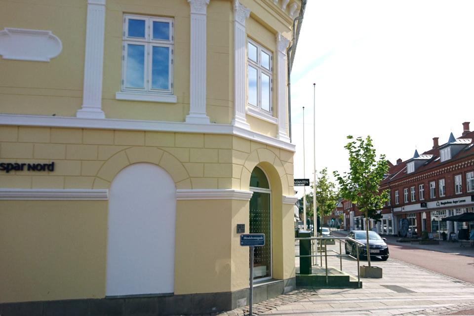 Тупиковая улица (blindebomsgade) возле пешеходной улицы