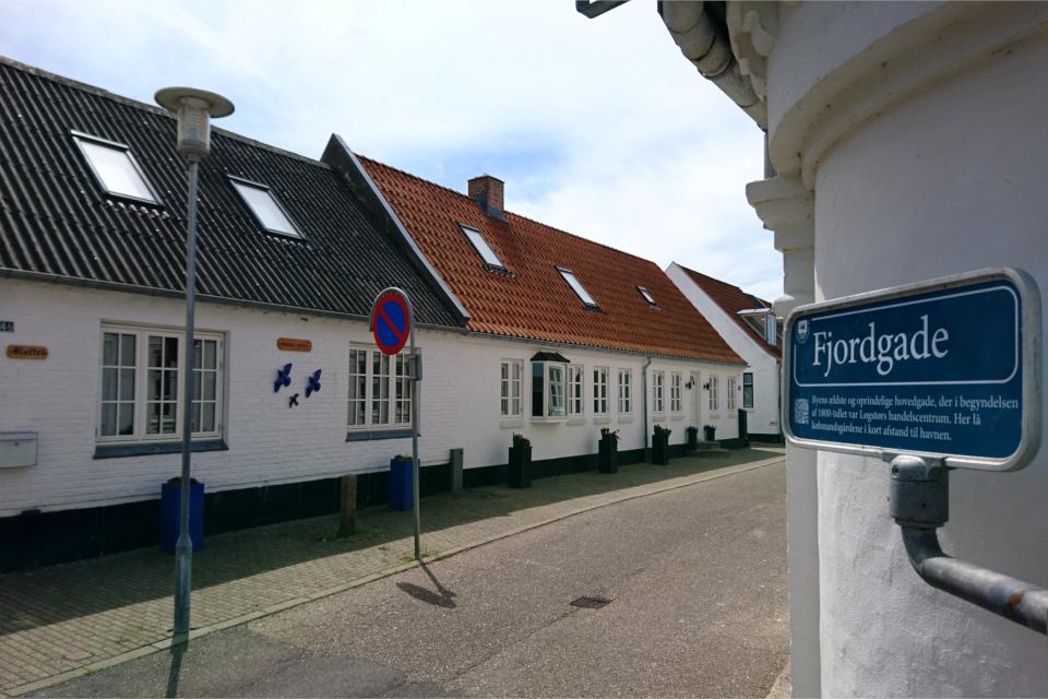 Улица Фьорда (Fjordgade). Фото 3 июн. 2020. г. Лёгстёр / Løgstør, Дания