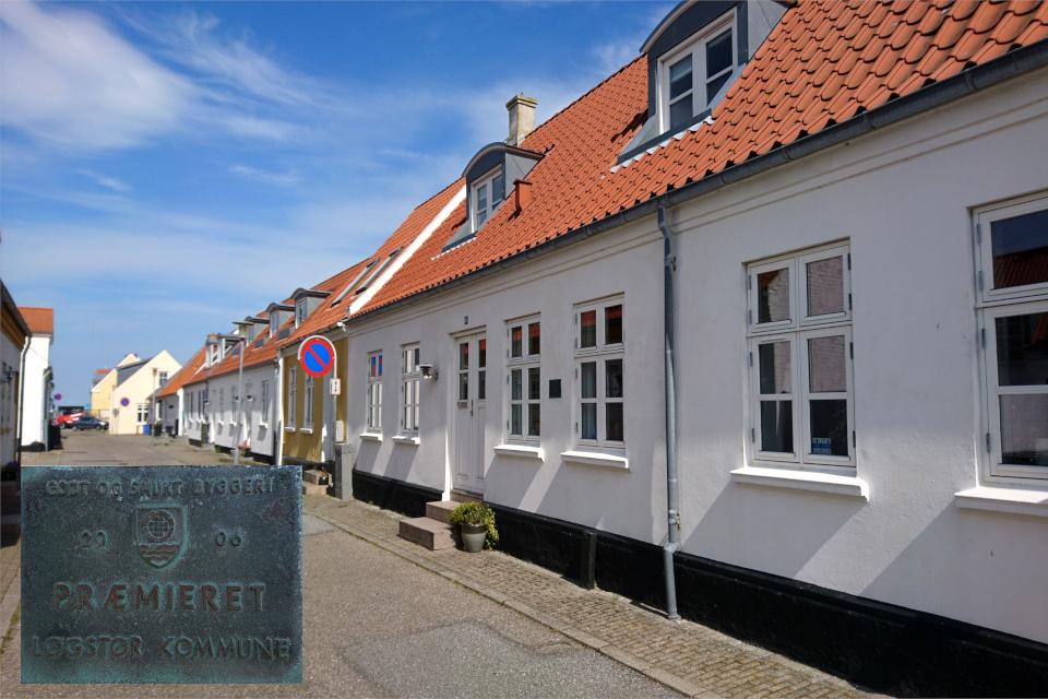 Ухоженный и красивый дом с табличкой от муниципалитете города Лёгстёр