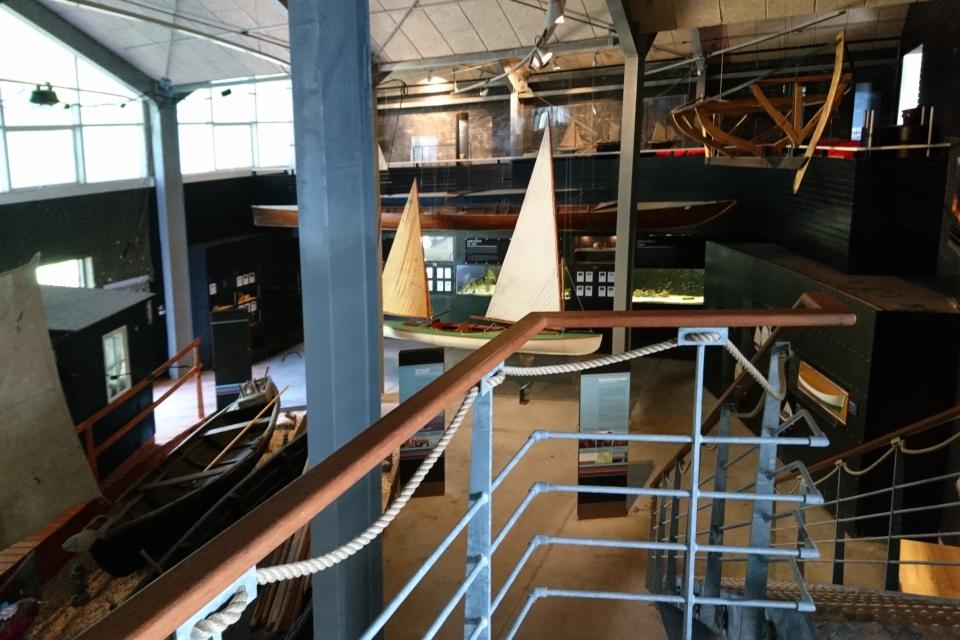 Рыболовные лодки в музее Лимфьорд (Limfjordsmuseet), г. Лёгстёр