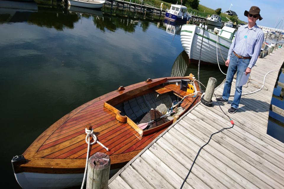 Отреставрированная лодка, выполненная по чертежам Йорн Утзон
