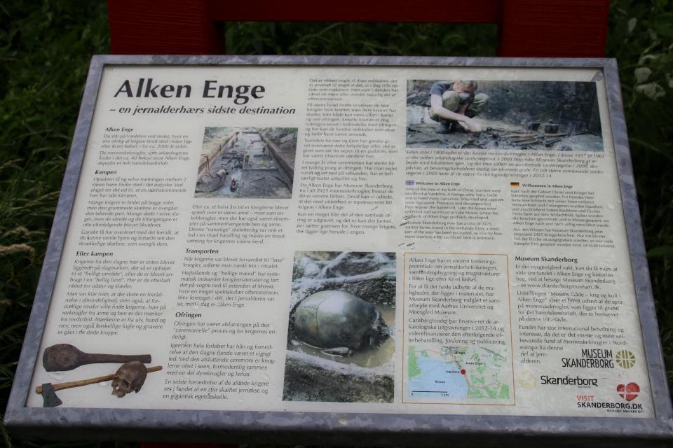 Информационноый щит археологических раскопки на полях города Алкен