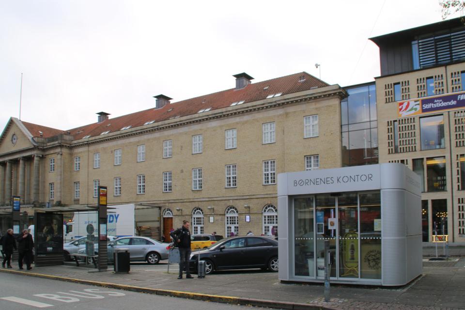 Новый дизайн ларька на площади ж/д вокзала в Орхусе