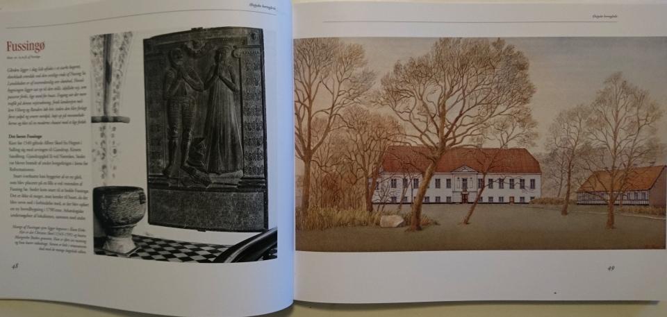 Акварельная работа Александра Тиме, изобразающая замок Замок Фуссингё