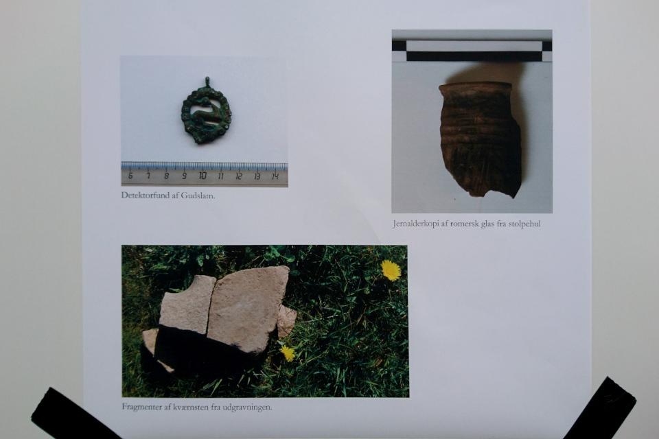 Фотографии предметов, найденных ранее на месте раскопок