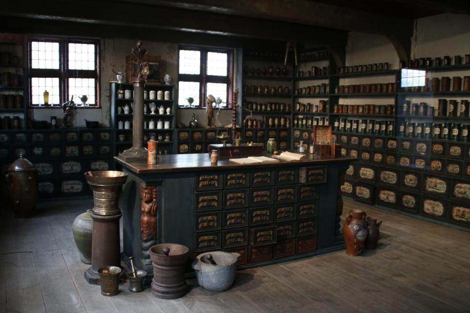 Помещение старой аптеки. Фото 30 дек. 2019, музей Старый Город, Дания