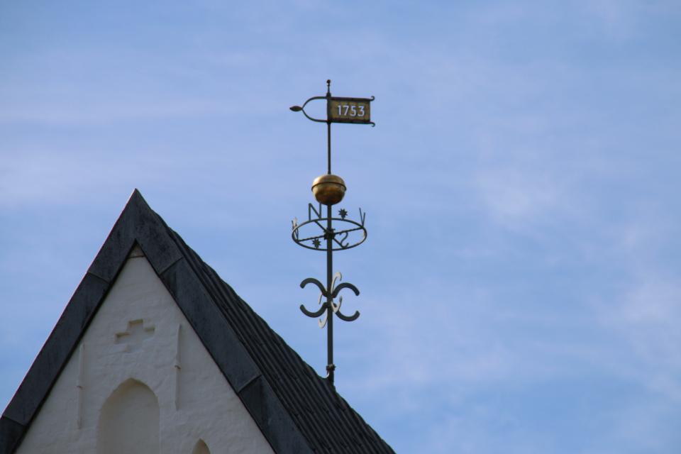 Флюгер на башни церкви Богоматери Скиве
