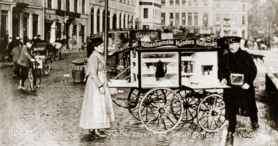 Кофейный вагончик в Копенгагене в 1907 году
