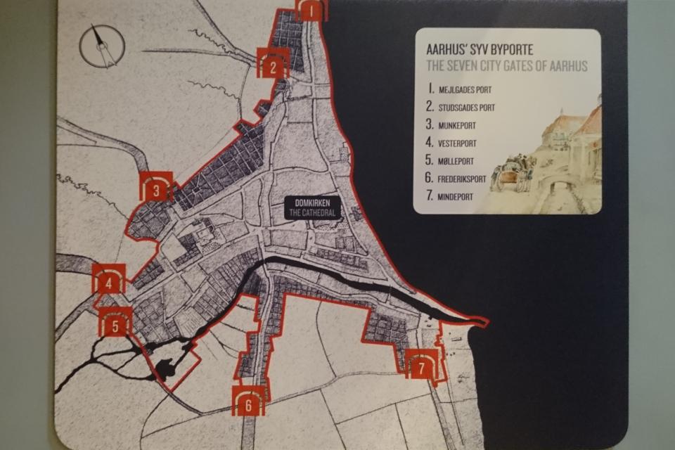 Иллюстрация месторасположений въездов в город