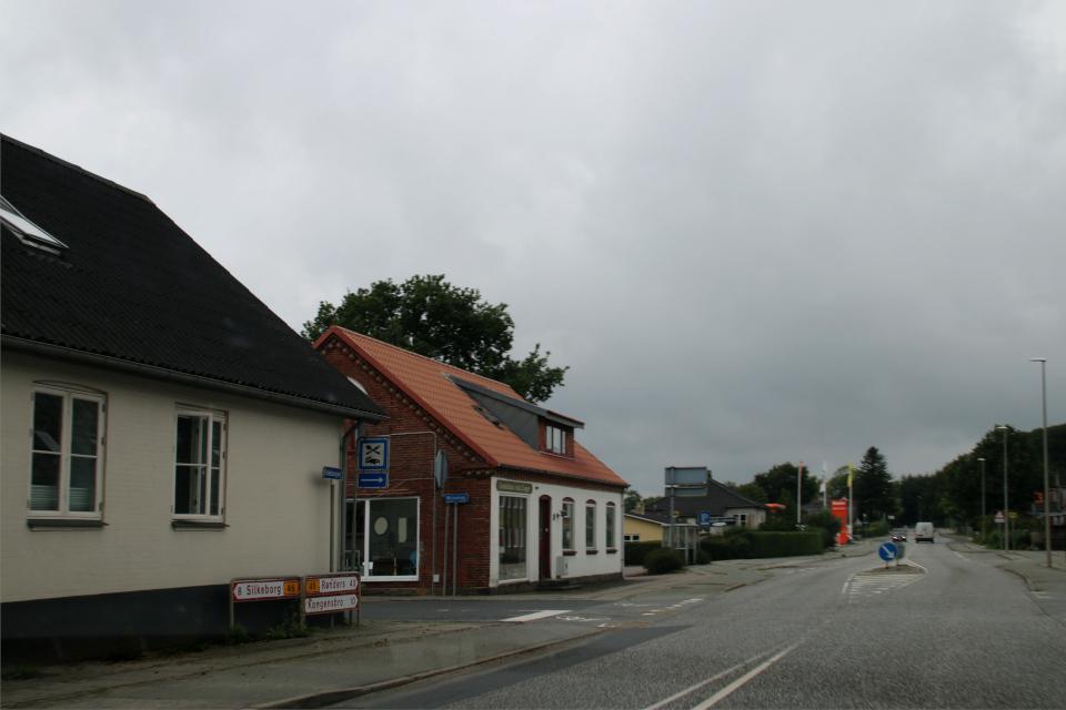 Старая главная дорога города Граубалле / Grauballe. Фото 7 июн. 2020, Дания