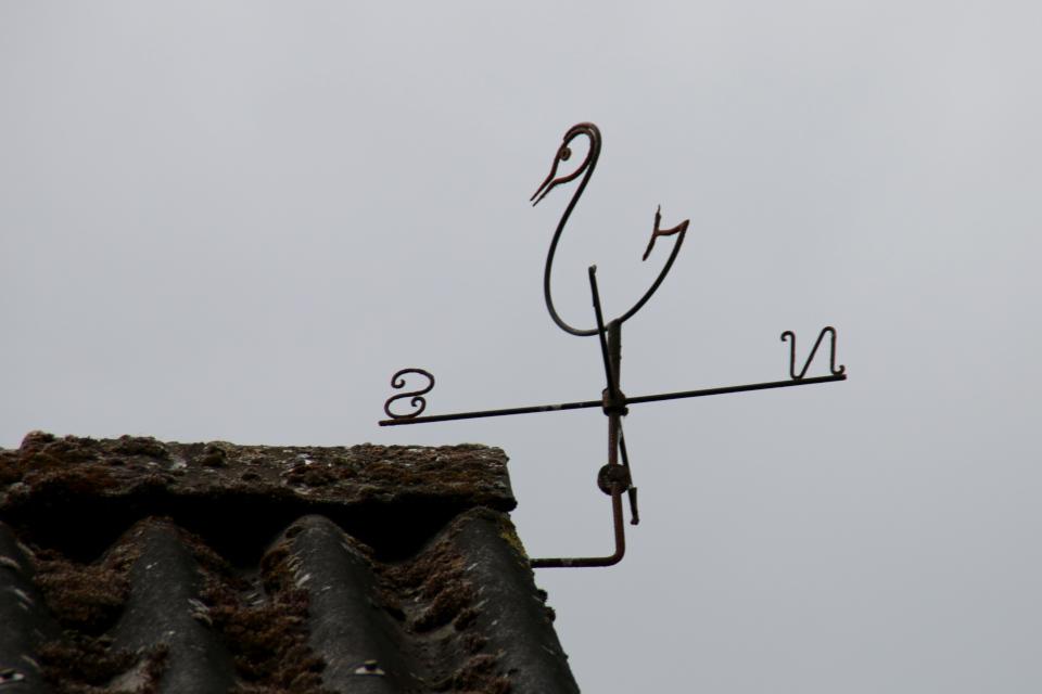 Флюгер в виде птицы. Фото 7 июн. 2020, Граубалле, Дания