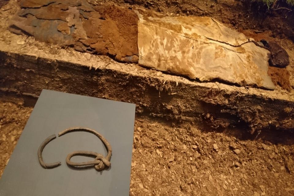 Кожаный шнур, который был на шее женщины из Эллинга